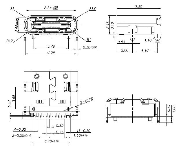 东莞硕方电子科技有限公司mc-311d type-c connectors